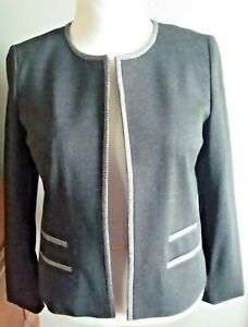 NEW WITH TAGS! TALBOTS Luxe Italian Knit Pant Suit-Misses 16-Charcoal