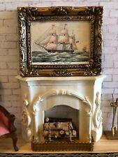 "Vintage Dollhouse Framed Naval Print - H.M. FRIGATE ""RALEIGH"" 1:12"