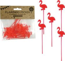 Party Picker Flamingo Flamongos ca. 8 cm, 24 St., Hawaii Deko