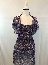 BECCA 2 PC With Cover-Up Multi Colored Swimsuit Size M $126 MSRP