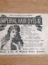Ephemera 1897 Advert Imperial Hair Dyes J Brodie & Co London 52351