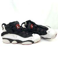 NIKE Air Jordan 6 Rings GS SIX WHITE BLACK GYM RED 323419 012 sz 7Y -Barely Worn