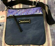 NEW Juicy Couture Women's LARGE CROSSBODY Handbag Purse DENIM PRINT PALM SPRINGS