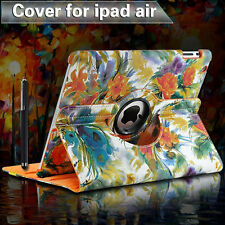 PU Leather iPad Air iPad 5 Cover Case 360°Rotation Magnetic Smart Skin Flip Case