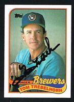 Tom Trebelhorn #344 signed autograph auto 1989 Topps Baseball Trading Card