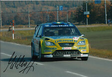 Mikko Hirvonen mano firmado Bp Ford Rally Mundial Foto De Equipo 12x8 2.