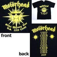 Motorhead Global Warming 2009 Tour Black T Shirt Small New Official