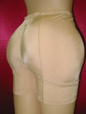 NEW!PADDED REAR BUTT+ HIPS ENHANCER SHAPER GIRDLE 2XL/9 NUDE