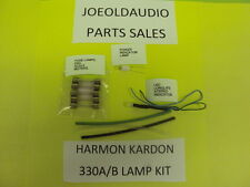 Harman Kardon 330 A&B Lamp Kit Replaces Stereo,Meter, Dial & Power Lamps.***