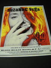 Suzanne Vega Blood Makes Noise 1992 Promo Poster Ad