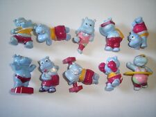 KINDER SURPRISE SET - HAPPY HIPPOS AT THE GYM 1990 ALL ACCESSORIES - FIGURES