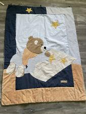 Sterntaler Krabbeldecke Decke Blau Bär 1,25 X 95