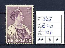 NEDERLAND #265   KW € 40     **  PF  PR EX   @4