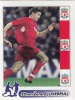 Football sticker STEVEN GERRARD Liverpool England School edition 2005 Serbia