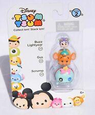 Disney Tsum Tsum - Buzz Lightyear Gus Scrump - 3 Character Pack - Series 2 (New)
