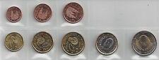 manueduc   ESPAÑA 2005  REY  JUAN CARLOS   8 Monedas  , RARAS  Sin Circular