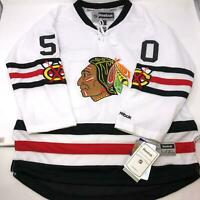 NWT NHL Crawford Chicago Blackhawks Reebok Stitched Jersey Youth Size L/XL