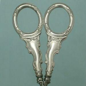 Beautiful Antique French Silver Embroidery Scissors * Circa 1890s