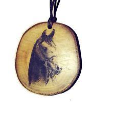 Horse Head Handmade Wooden Necklace Charm Eco Friendly Pendant Gift  #horses
