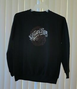 Gold's Gym Sweat Shirt Crew Neck Black Printed Size Small