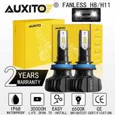 FANLESS H8 H9 H11 LED Headlight Kit Low Beam 100W 9000LM 6000K Super HID White