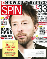 Spin Magazine December 2009 Thom Yorke Radiohead Rock Myths Tegan & Sara