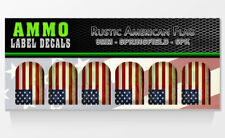SPRINGFIELD XD XDM 9MM - Rustic American Flag - Mag Base Plate Sticker 6 PACK
