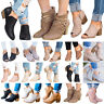Women Zipper Peep Toe Ankle Boots Ladies Mid Block Heel Casual Summer Shoes Size
