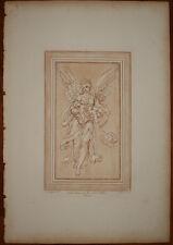 stampa antica old print D. cresti basire il sonno e la notte radierung grabado