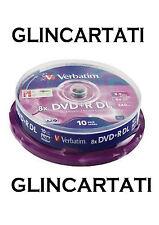 100 DVD +R VERBATIM 100 % 8X DL DUAL DOUBLE LAYER XboX 360