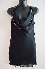 WOMENS LILLA LANE BLACK TANK / SINGLET / CAMI TOP SIZE S / 10 NEW W/ TAGS