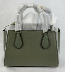 Michael Kors Daria Small 2 in 1 Satchel Crossbody Signature MK Bag Army Green