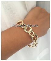 Bracelet Gros Maillons Plaqué Or 18 carats Garanti  NEUF  Bijoux Femme