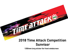 Time Attack® Official TIME ATTACK SCREEN HEADER 2018 THUNDER COLOUR * MOTORSPORT