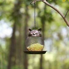 Cat-shaped bird feeder cat-shaped retro handmade outdoor decoration