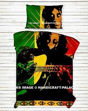 Playing Guitar Bob Marley One Love Dovet Cover Twin Indian Blanket Cover Bedding