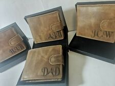 Personalised leather RFID Protected wallet, christmas, xmas gift for dad, men