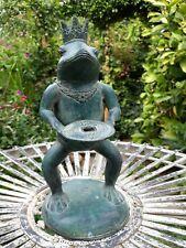 """Oggetto decorativo in bronzo """"Rana"""" da giardino"""