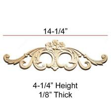 """Birch Embossed Carving Applique 14-1/4"""" x 4-1/4"""" x 1/8"""""""