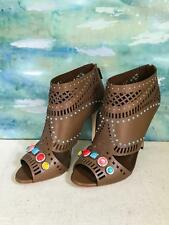 $1195 GUCCI Lika Brown Leather Booties Gemstones Women's Size 41.5 SALE! NEW