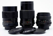THREE M42 MOUNT LENSES FOR 35mm FILM SLRs 50mm F/1.8 100mm F/2.8 135mm F/2.8