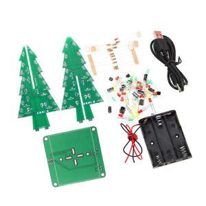 DIY Electronic Solder Assembly Kit LED Christmas Tree Flashing Light Electronic