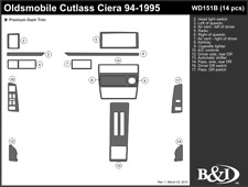 OLDSMOBILE CUTLASS CIERA 1994 1995 DASH TRIM KIT b