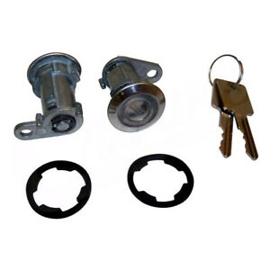 Door Lock Cylinder Pair for Jeep Wrangler Cherokee XJ 1984-1990 Crown 8122874K2