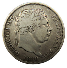 More details for 1820 king george iii silver shilling coin - great britain