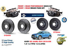 FOR AUDI Q2 2016-->NEW FRONT REAR PERFORMANCE DRILLED BRAKE DISCS SET + PADS KIT