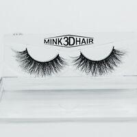 1 Pair Mink 3D Design Soft Real False Eyelashes Cross Messy Eye Lashes 18mm