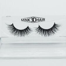 Handmade Soft Mink 3D Design Real False Eyelashes Cross Messy Eye Lashes 18mm