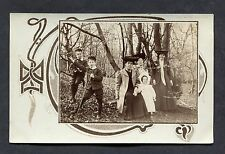 C1910 Photo of a Family Group of 6 Persons in the Woods.