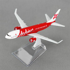 New 16cm Aircraft Plane Boeing 737 Air Asia.com Airlines Diecast Model